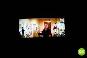 Groggs on the big screen on Valleys Are Here premier